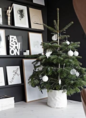 2 small-scandinavian-christmas-tree-against-black-wall-via-nina-holst