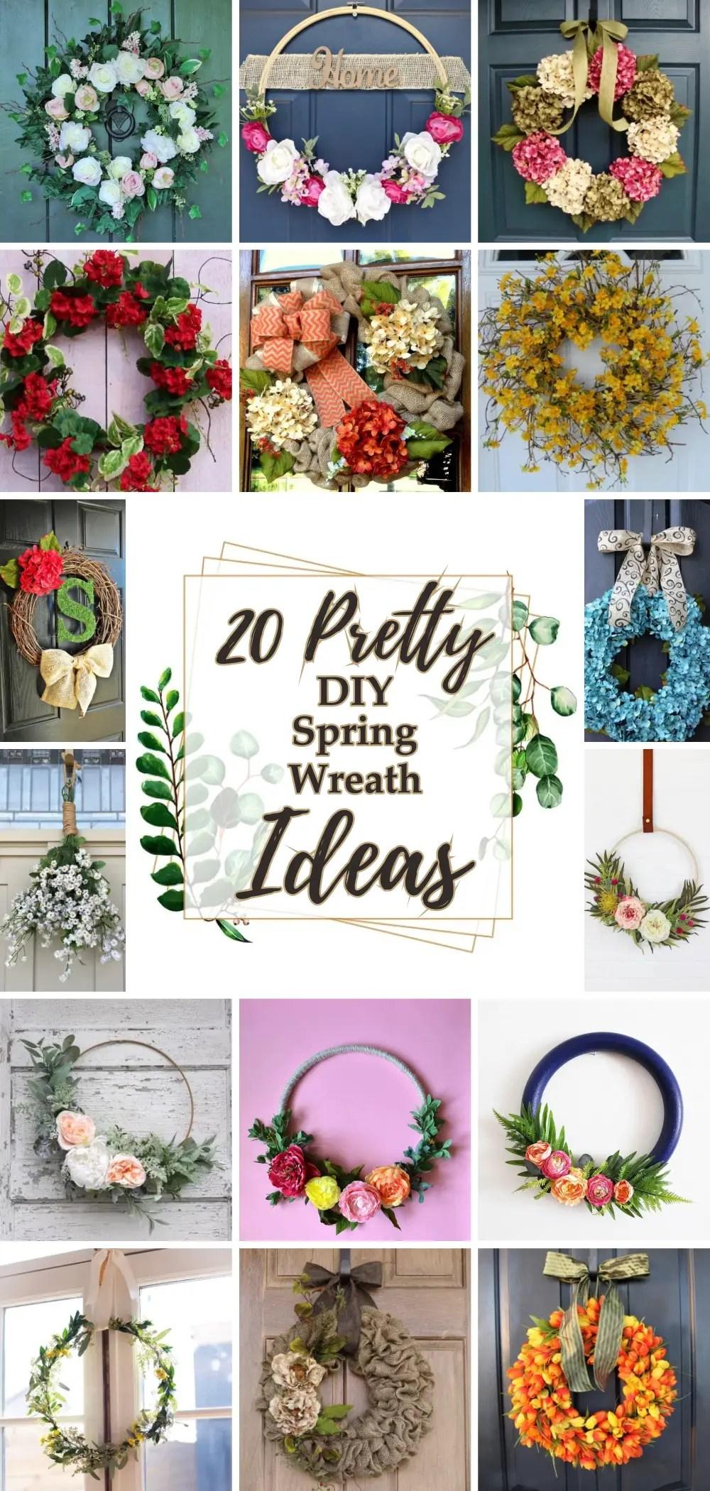 20 pretty diy spring wreath ideas 1