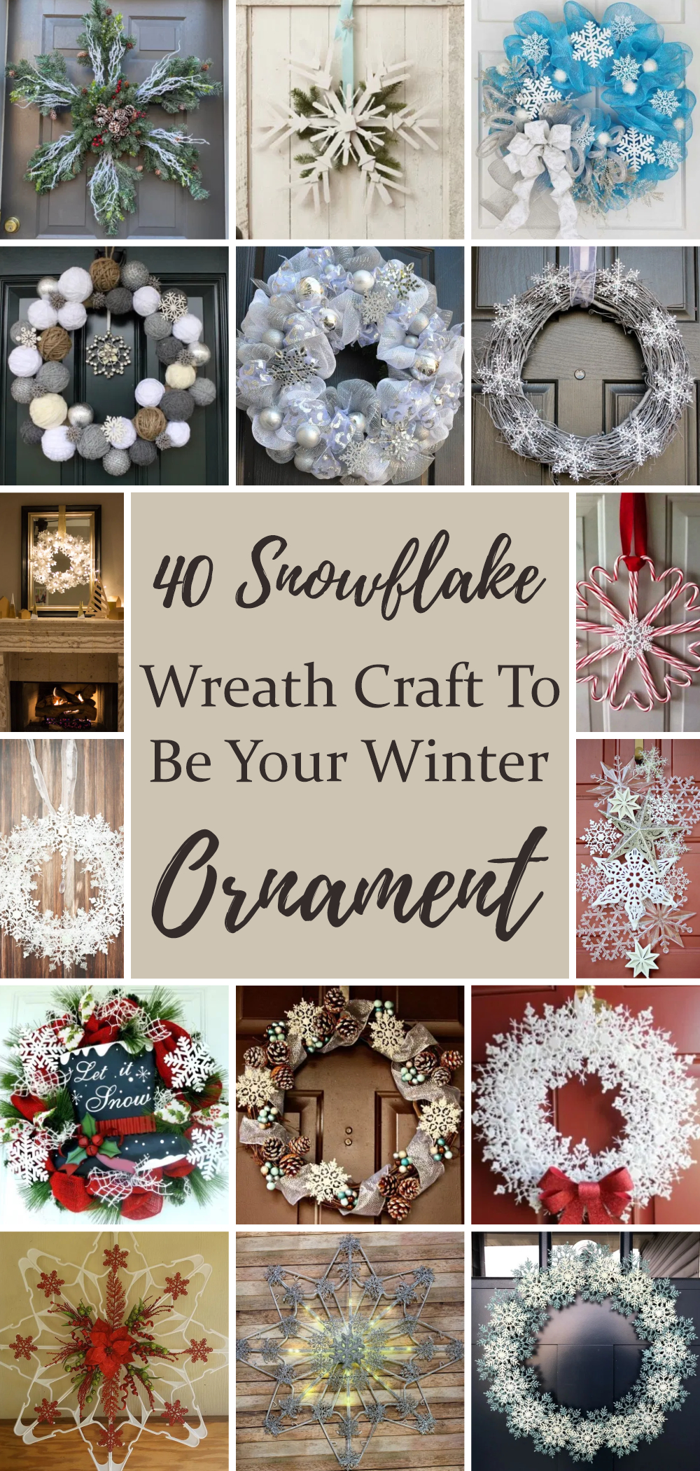 40 snowflake wreath craft to be your winter ornament 1