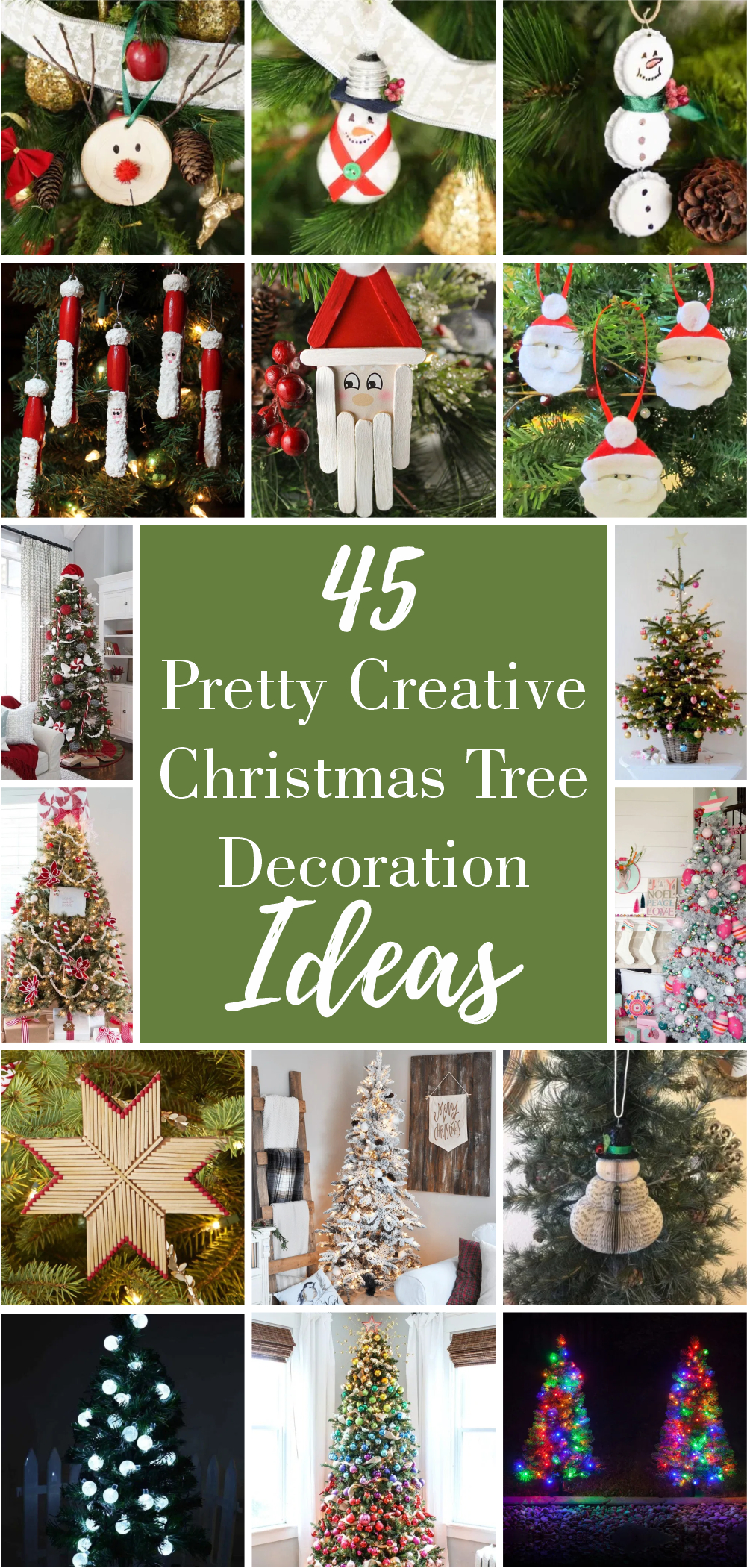 45 pretty creative christmas tree decoration ideas 1