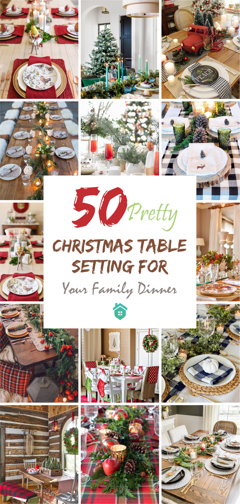 50 pretty christmas table setting for your family dinner5