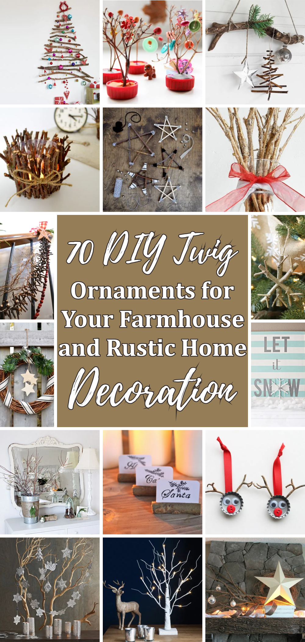 70 diy twig ornaments for your farmhouse and rustic home decoration 1