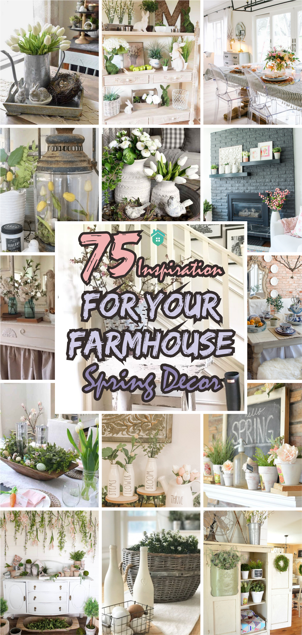 75 inspiration for your farmhouse spring decor5