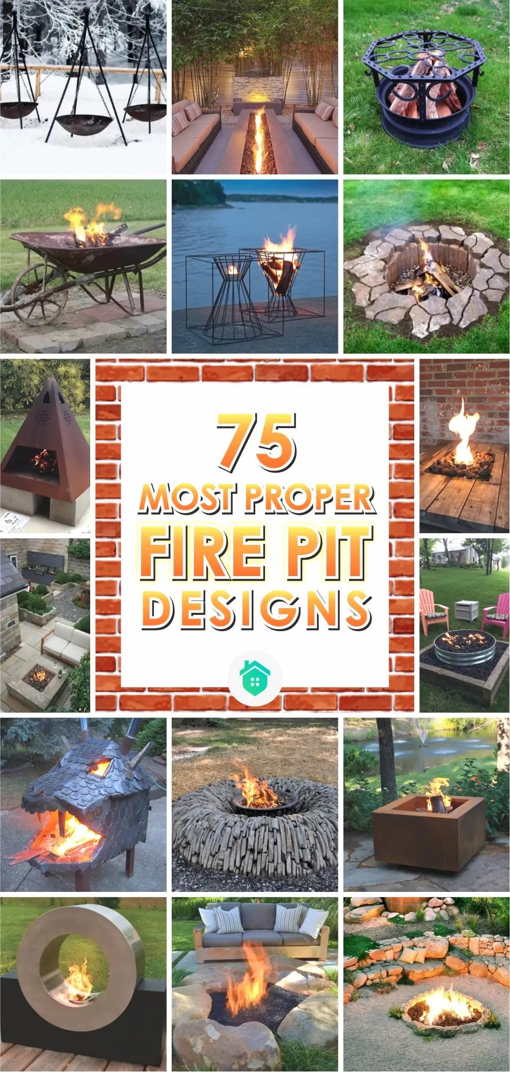 75 most proper fire pit designs 1