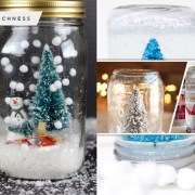 90 pretty mason jar snow globe for your winter ornament