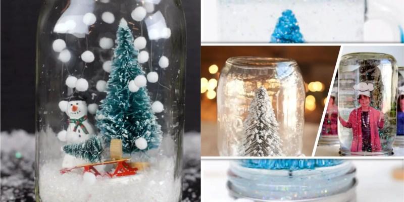 90 pretty mason jar snow globe for your winter ornament