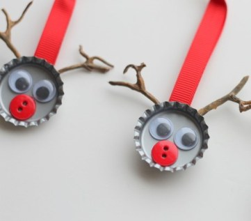 Bottle-cap-reindeer-ornaments