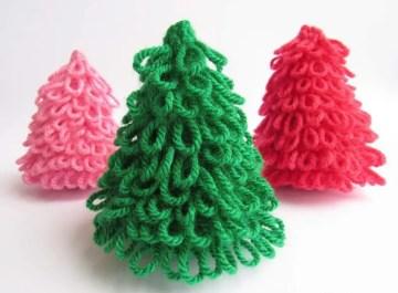 Crocheted-christmas-trees