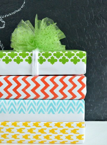 Diy-stenciled-wrapping-paper
