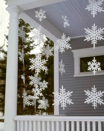 Paper-snowflake-garlands