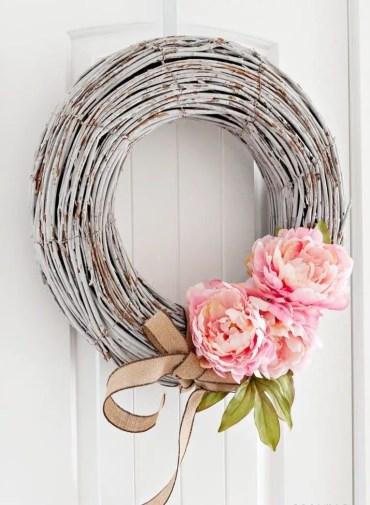 Peony-wreath