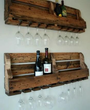 Rustic-pallet-wine-rack