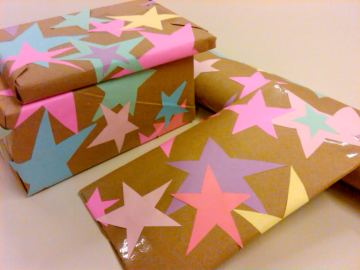 Star-wrapping-paper-diy