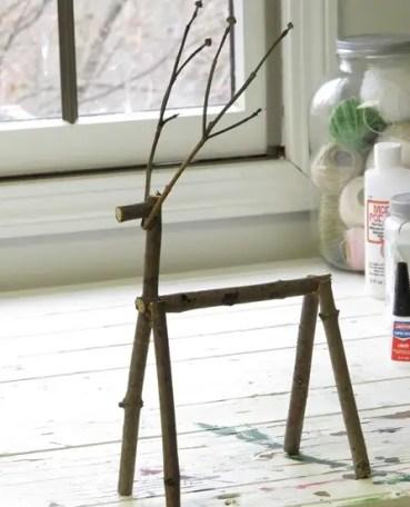 Twig-reindeer