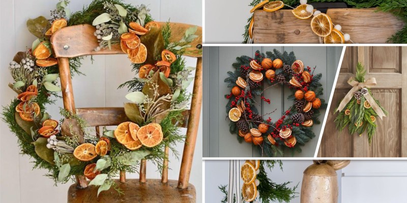 Unique dried fruit ornament for fresh ambiance