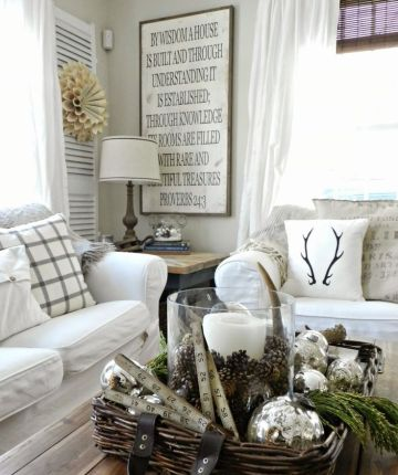 Winter-white-home-decor-with-antlers-pillow-1