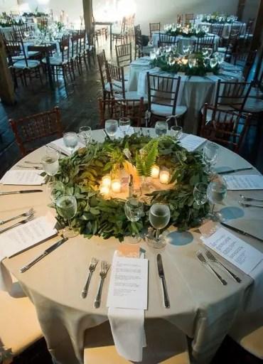 Eucalyptus-wreath-for-a-wedding-centerpiece