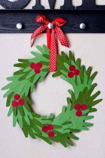 Kids-handprint-christmas-wreath
