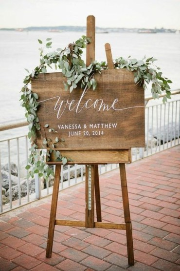 Wedding-sign-decorated-with-eucalyptus