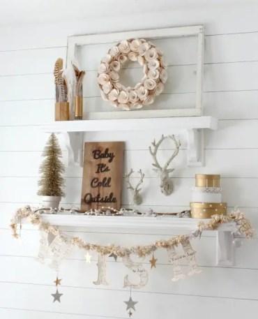 Winter-decorating-gold-shelves