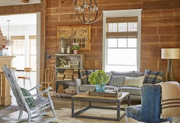 1-rustic-living-room-plaid-patterns