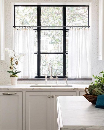 Café curtains Clever Upgrades Window Treatment Ideas For Perfect Spring