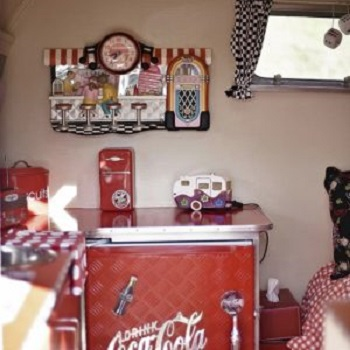 Coca cola theme Selected RV Decoration Ideas You Want To Copy This Time