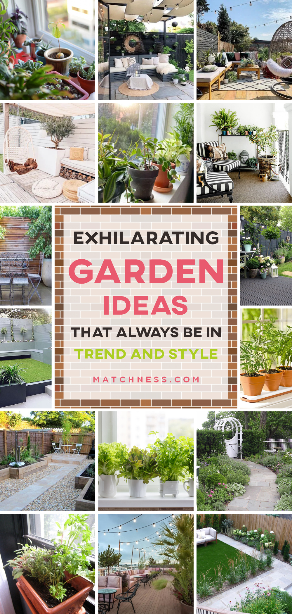 Exhilarating garden ideas that always be in trend and style 1