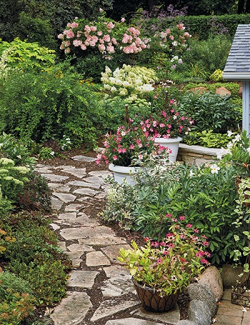 Pretty pink garden for an easy and elegant garden color theme 4