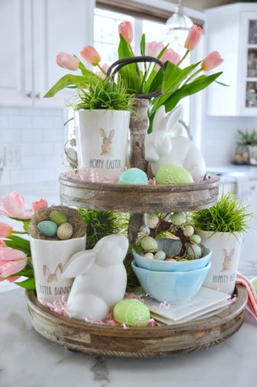 Tiered-tray-easter-decor