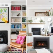 You can style your empty fireplace by using these 75 ideas fi