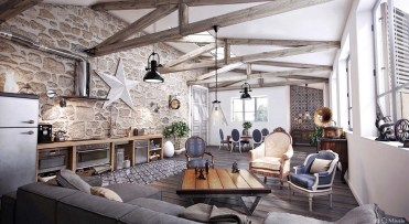 High-rafters-victorian-chairs-rustic-living-room-furniture-sets