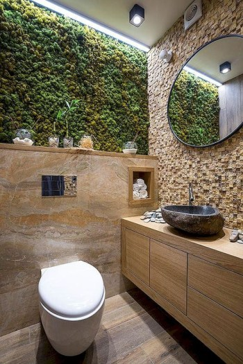 Moss wall in your bathroom