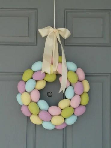 Paper-mache-egg-wreath
