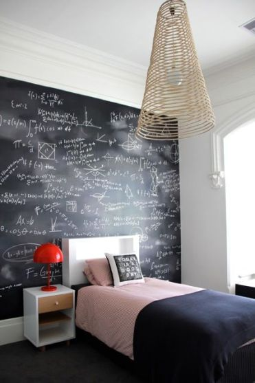 1-chalkboardwallinteensbedroom