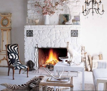 All-white-stone-fireplace