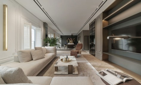 Apartment interior design for a single women with full of coziness and tender 1