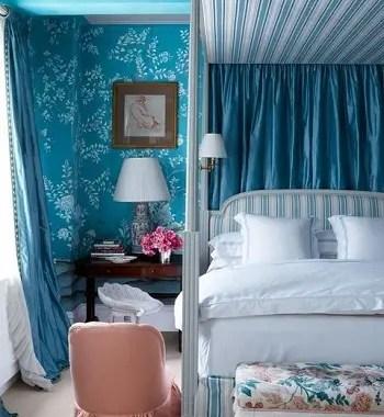 Blue bedroom apartment