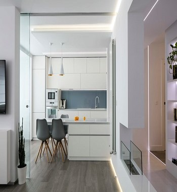 Breezy white kitchen interior Galvanize Minimalist Kitchen Design Ideas For Your Modern Homes