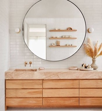 Bronzed sanctuary Most Enchanting Minimalist Bathroom Design Ideas To Have