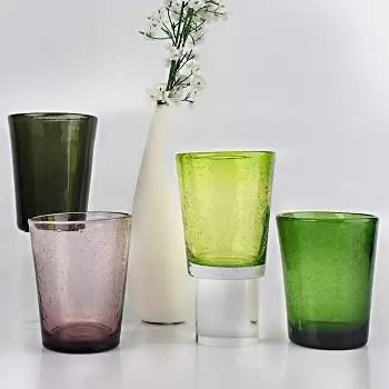 Bubble colored glassware Prettiest Colored Glassware You Can Definitely Add For Your Collection