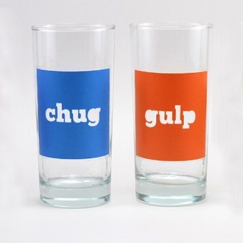 Color block drinking glasses DIY Colored Creative Ideas To Update Your Glassware To The Next Level