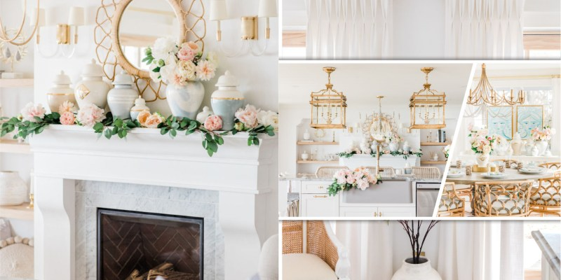 Gorgeous way to decorate a home with faux florals in spring that so inspiring 2