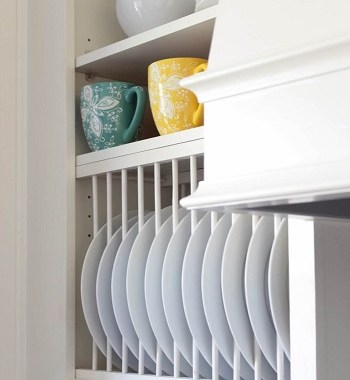 Inside cabinet plate rack Uncomplicated Plate Racks Ideas To Stack Your Plates