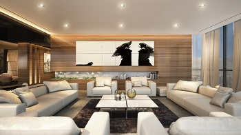 Luxury penthouse design with dramatic touches 1
