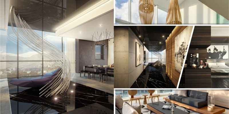 Luxury penthouse design with dramatic touches 2