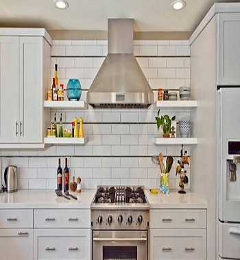 Modern rustic Utilitarian Contemporary Kitchen Floating Shelves Ideas For Best Additional Storage