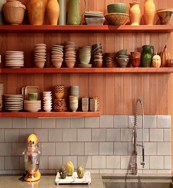 Native wood style Utilitarian Contemporary Kitchen Floating Shelves Ideas For Best Additional Storage