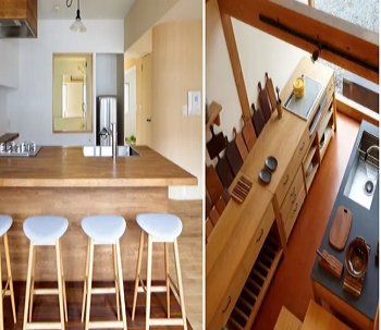 Natural wood colors Earth-Toned Minimalist Kitchen Ideas With Simplicity And Harmony