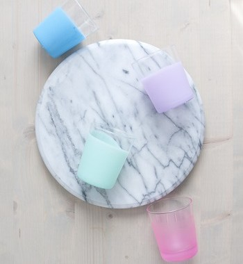 Pastel dipped glassware DIY Colored Creative Ideas To Update Your Glassware To The Next Level